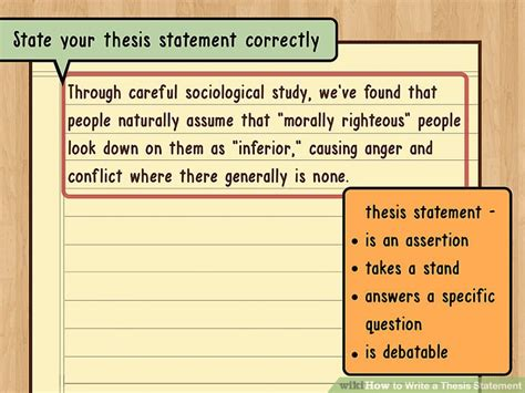 What Is A Subthesis by The Best Way To Write A Thesis Statement With Exles
