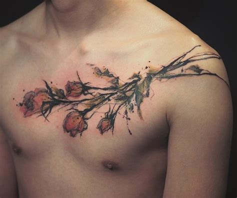 tattoo roses men roses tattoos for on chest www pixshark images