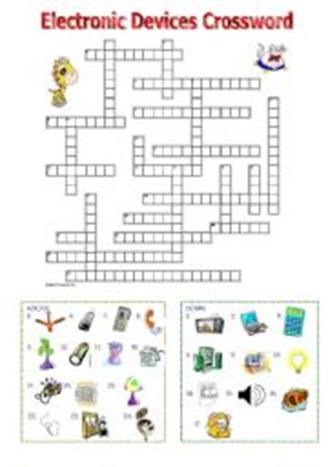 english worksheets electronic devices crossword