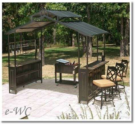 Outdoor Patio Grill Gazebo Outdoor Top Gazebo Patio Deck Grill Cover Tiki Style Bar Outdoors Pinterest