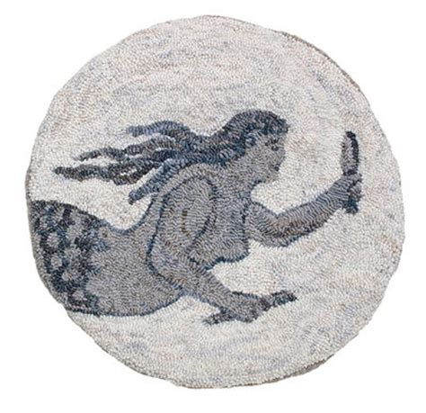 lisanne miller rug hooking the shelburne mermaid w cushing co rughookingmagazine