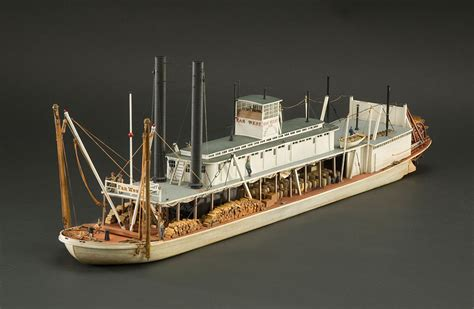 steam boat horn on the water rigged model river steamboat far west