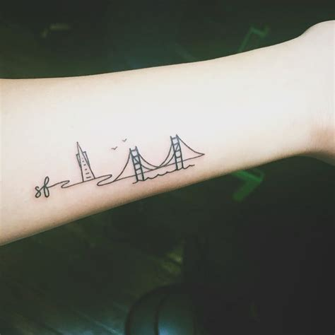 san francisco tattoo 25 trending skyline ideas on nyc