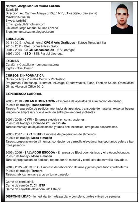 Modelo Curriculum De Trabajo Modelo De Curriculum Vitae Hecho Modelo De Curriculum Vitae