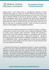 Physical Therapy Essay by The Best Med School Personal Statement Exles