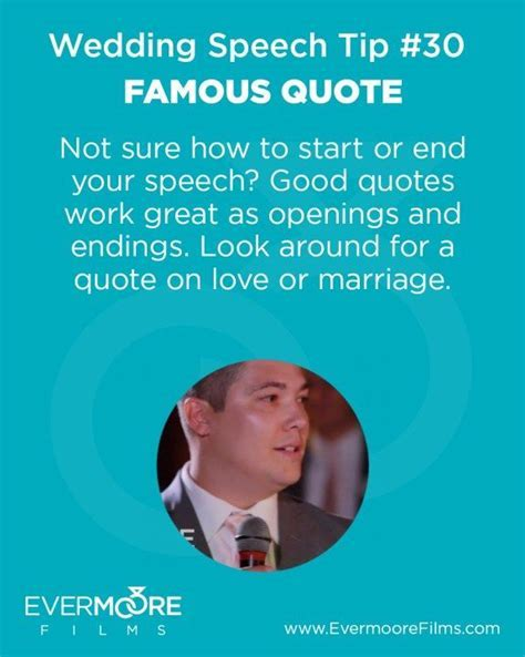 Famous Quote   Wedding Speech Tip #30   Evermoore Films