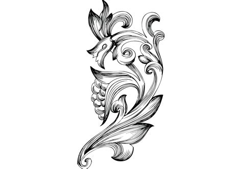 freehand filigree drawing by joshua free ornamental floral elements vector free