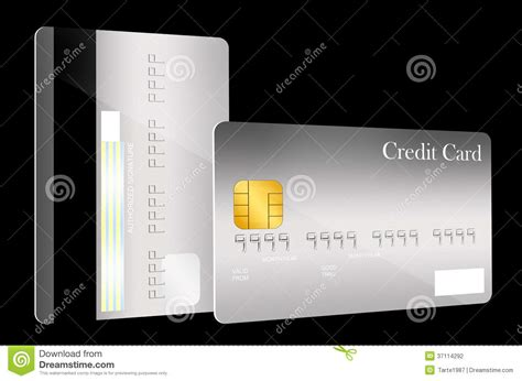 card template with front and back front and back credit card template stock illustration