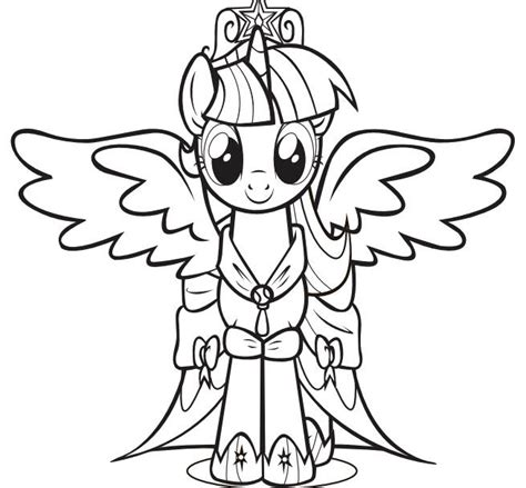 twilight sparkle coloring page print the princess twilight sparkle pony coloring