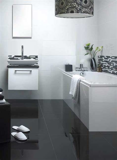 Super black nano polished porcelain wall or floor tile 30 x 60 cm