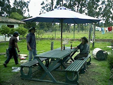 mesas y sillas cing 17 mesa y sillas para exteriores pl 225 sticos con parasoles