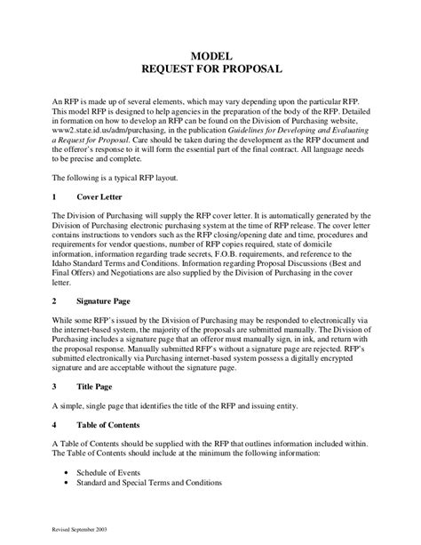 sample request  proposal format