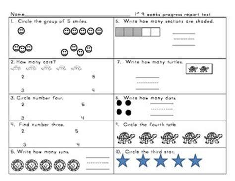 sle of kindergarten test kindergarten envision math topic 1 and 2 test by vicki