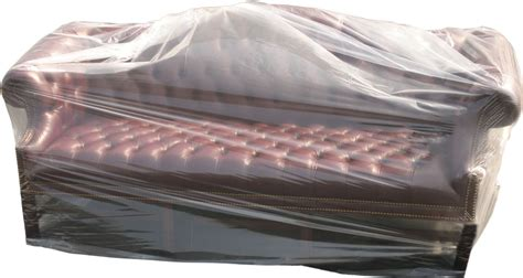 couch covered in plastic plastic couch cover 152 quot x 45 quot 1 mil