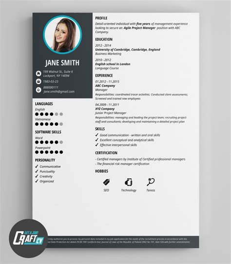 Modern Cv by Modern Cv Exle Original Cv Layout Resume Templates
