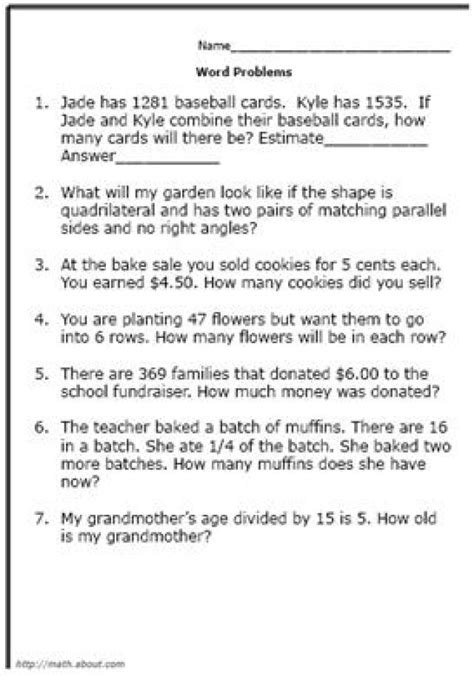 Grade 4 Math Problem Solving Worksheets by 18 Best Images Of Multiplication Test Worksheet