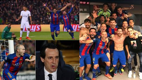 barcelona psg 6 1 believe it barcelona thrash psg 6 1 to complete stunning