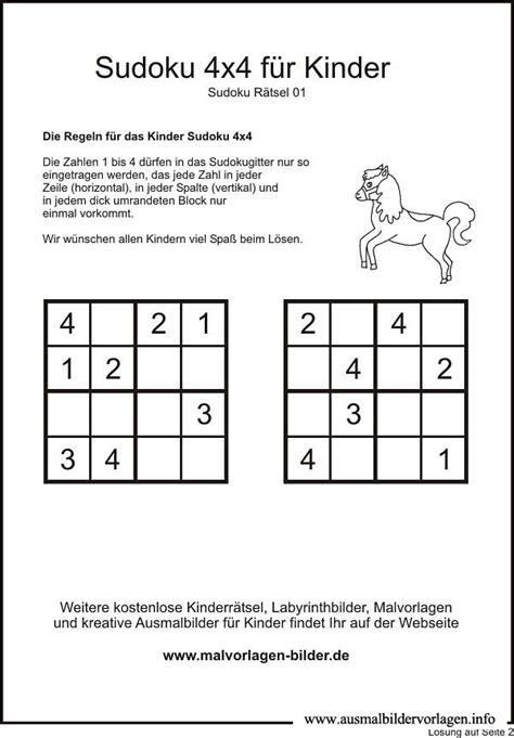 printable sudoku 4x4 24 best sudoku images on pinterest 4x4 free coloring