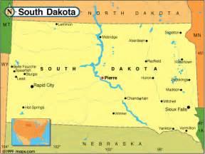 Usa Map South Dakota by Similiar Map Of South Dakota And Mn Border Keywords
