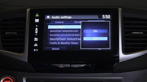honda pilot tips tricks xm radio tune start feature youtube