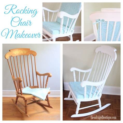 Baby Nursery Rocking Chairs Vintage Rocking Chair Makeover For A Baby Nursery Sloan Chalk Paint By The Salvaged