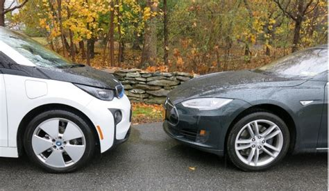 Car Model Tesla Tesla Model S Vs Bmw I3 Electric Car Efficiency