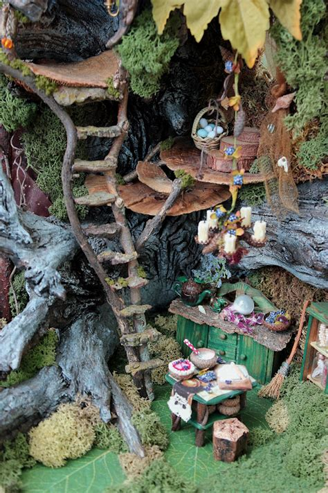 fairy homes 19th day miniatures works in progress miniature driftwood