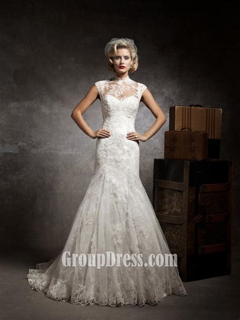 vintage lace wedding dresses sweetheart mermaid lace and tulle vintage wedding dress groupdress