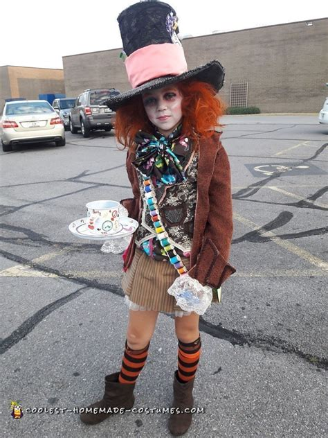 In Handmade Costume - cool in mad hatter costume