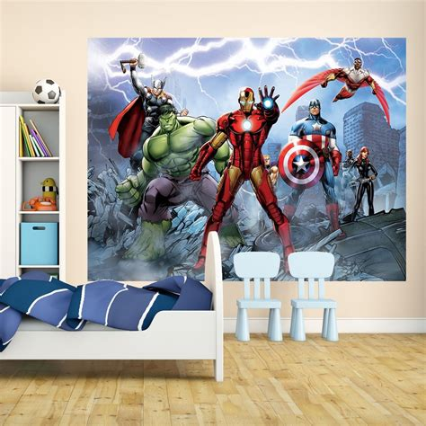 comic wall mural 1 wall marvel assemble wall mural comic iron thor captain america blue i