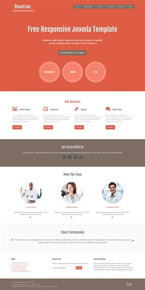 templates for website joomla free baseline free joomla template