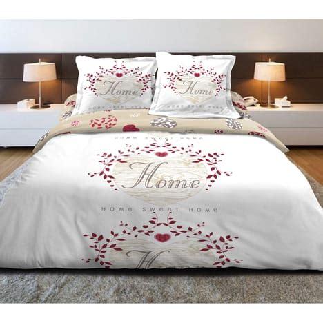 Housse De Couette Romantique Pas Cher by Parure Housse De Couette Coton 57 Fils Coeur Romantique