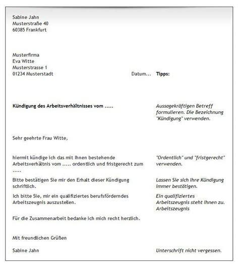 Deutsche Briefvorlage Gratis Vorlagen Tipps Zum Arbeitsvertrag K 252 Ndigen Freeware De