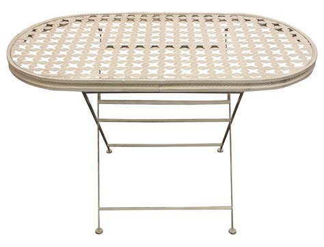 Oval Patio Table Woodside Oval Folding Metal Garden Patio Dining Table Outdoor Furniture Ebay