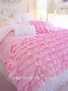 twin xl dorm room bedding dreamy pink ruffles shabby cottage chic com