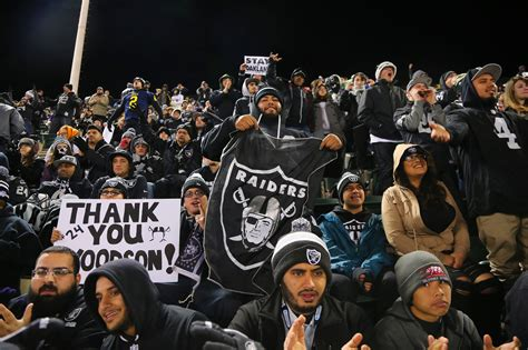 oakland raiders fan experience in oakland some raiders fans fear the meaning of last
