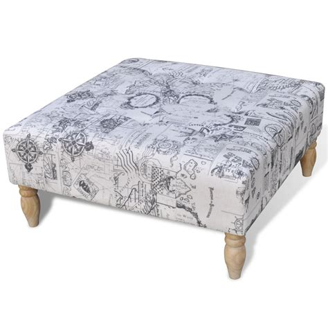 pattern ottoman stool footrest ottoman patterned square 80 x 80 x 38 5 cm