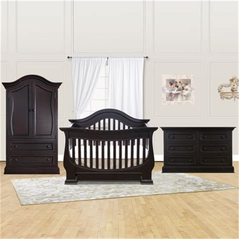 Davenport Convertible Crib Baby Appleseed Davenport 3 Nursery Set Convertible Crib Armoire And Dresser In