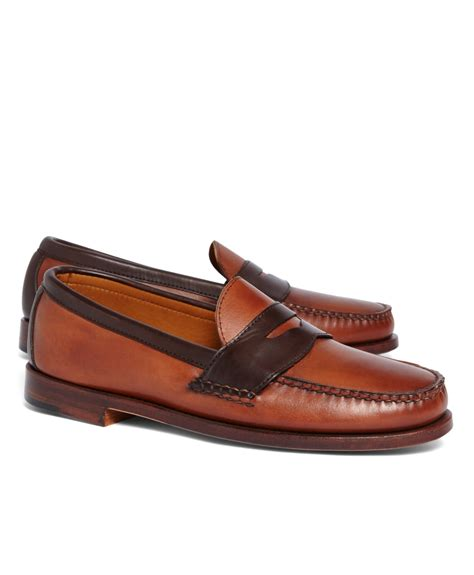 two tone loafers brothers rancourt co two tone loafers in