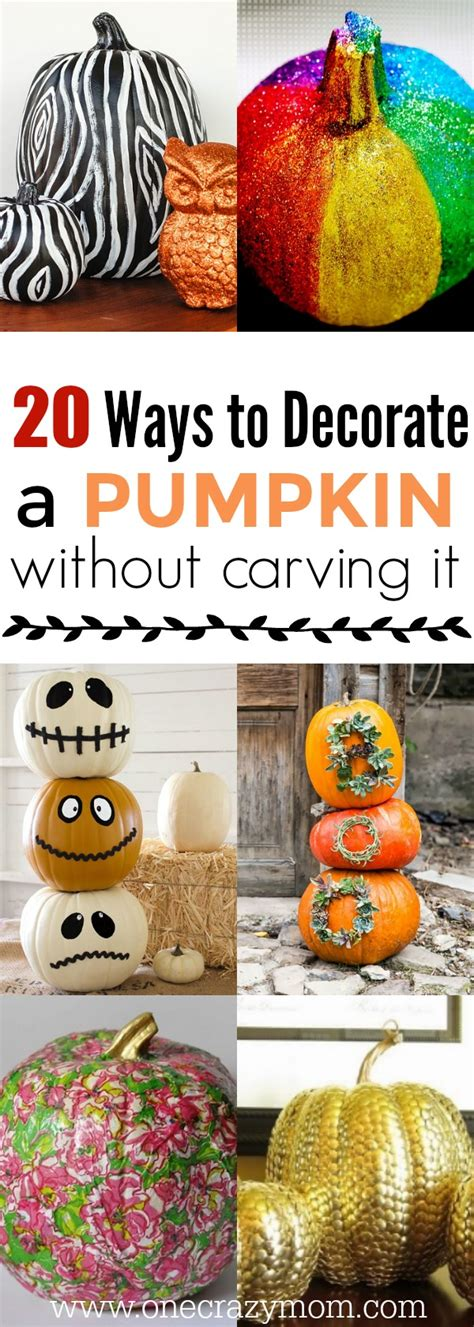 how to decorate a pumpkin without carving it 20 easy ideas
