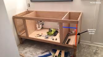 build a bathroom vanity build a diy bathroom vanity part 4 the drawers