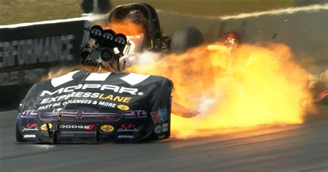 matt hagan robert hight suffer massive explosions    time  nhra drag racing