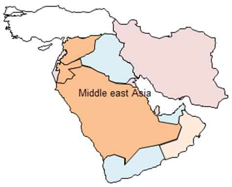middle east map free vector geo map asia