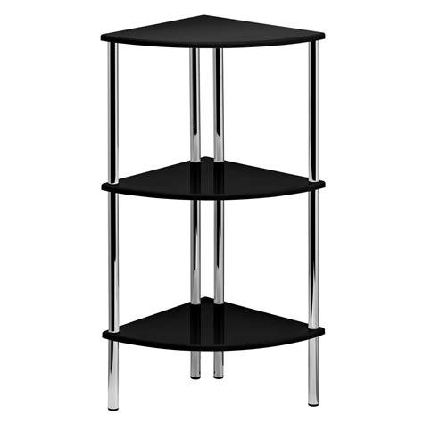 Shelf Corner Unit by 78cm High Gloss Corner Shelf Display Unit 3 Tier Shelves