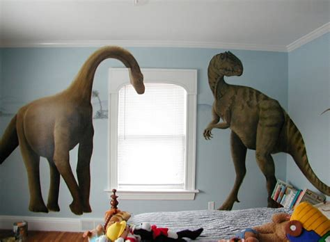 kinderzimmer junge dino kinderzimmer wandtattoo dinosaurier abbildungen f 252 r jungs
