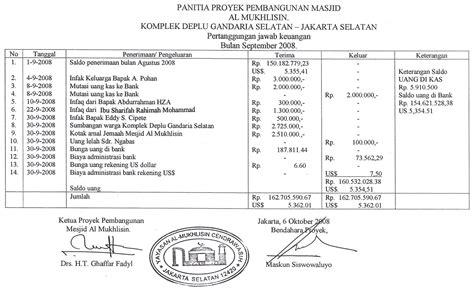 format laporan dana zakat contoh laporan keuangan masjid contoh laporan laba rugi