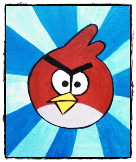 angry birds painting angry bird series 1 painting by puja chakravarty