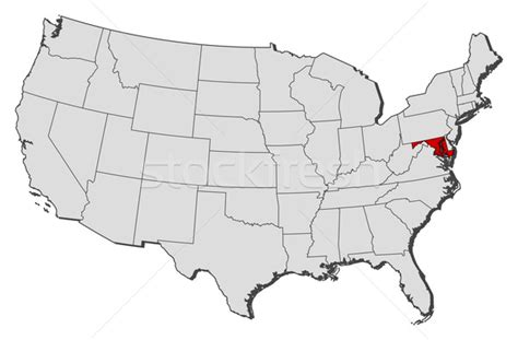 united states map of maryland map of the united states maryland highlighted vector