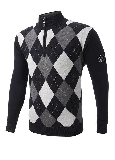 golf jumper pattern name cutter buck wind barrier lined golf sweater black small