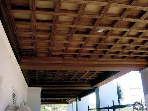 coffered ceiling mediterranean porch  york
